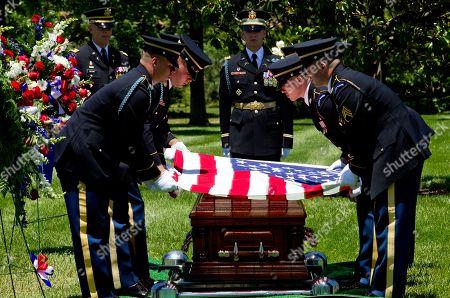 Editorial image of Missing WWII Pilot Burial, Arlington, USA - 15 Jun 2018