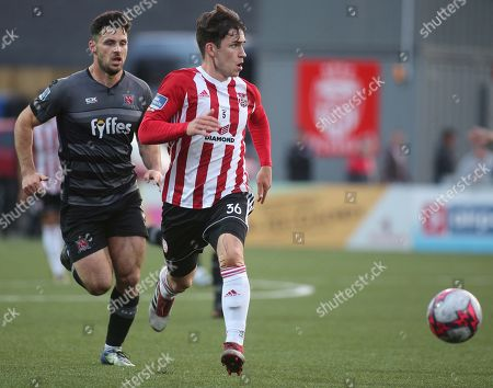 Derry City vs Dundalk. Derry's Jack Doyle and Patrick Hoban of Dundalk