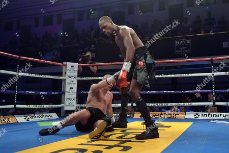Michael 'Venom' Page (black shorts) defeats Michael Ciash during a Boxing Show at York Hall on 15th June 2018