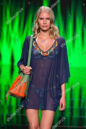 Stock Picture of Lotta Korkala on catwalk