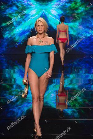 Celina Locks on catwalk