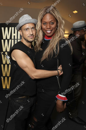 Stock Image of Ari Gold and Laverne Cox