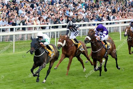 ABOVE THE REST (1) ridden by jockey Ben Curtis and trained by David Barron winning The JCB Handicap Stakes over 7f (£40,000)  during the Macmillan Charity Raceday at York Racecourse, York. Picture by Mick Atkins