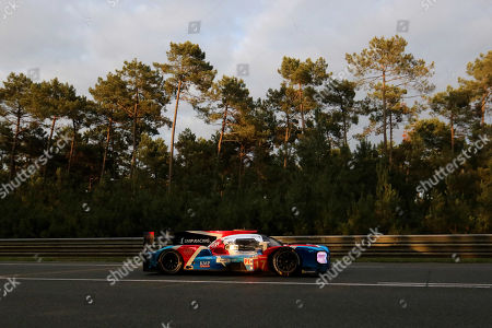 SMP Racing in a BR Engineering BR1 AER with Stephane Sarrazin of France, Egor Orudzhev of Russia and Matevoss Isaakyan of Russia in action at nightfall during the Le Mans 24 Hours race in Le Mans, France, 16 June 2018.