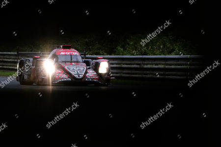 Rebellion Racing in a Rebellion R13 Gibson with Andre Lotterer of Germany, Neel Jani of Switzerland and Bruno Senna of Brasil in action at nightfall during the Le Mans 24 Hours race in Le Mans, France, 16 June 2018.