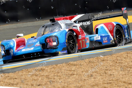 SMP Racing (starting no.17) in a BR engineering BR1 AER with Stephane Sarrazin of France, Egor Orudzhev of Russia and Matevoss Isaakyan of Russia, in action during the Le Mans 24 Hours race in Le Mans, France, 16 June 2018. The race is scheduled to finish at 3pm on the 17 June.