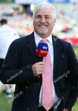 Stuart Barnes sky Sports commentator during the 2018 Castle Lager Incoming Series 2nd Test match between South Africa and England at the Toyota Stadium.Bloemfontein,South Africa. 16,06,2018 Photo by (Steve Haag JMP)