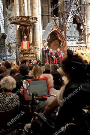Editorial photo of Service of Thanksgiving for Professor Stephen Hawking, Westminster Abbey, London, UK - 15 Jun 2018