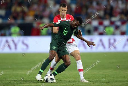 Ivan Perisic of Croatia and Abdullahi Shehu of Nigeria