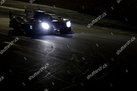 United Autosports (starting no.32) in a Ligier JS P217 Gibson with Hugo De Sadeleer of Switzerland, William Owen of US and Juan Pablo Montoya of Colombia in action during the night of the race of Le Mans 24 Hours race in Le Mans, France, 16 June 2018. The race started at 3pm and is scheduled to finish at 3pm on the 17 June.