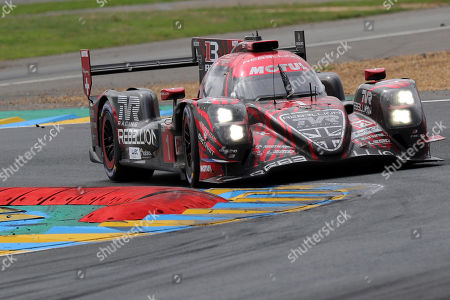 Rebellion Racing (starting no.1) in a Rebellion R13 Gibson with Andre Lotterer of Germany, Neel Jani of Switzerland and Bruno Senna of Brazil in action during the Le Mans 24 Hours race in Le Mans, France, 17 June 2018.