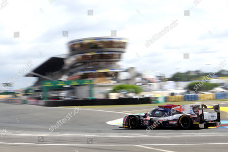 United Autosports (starting no.32) in a Ligier JS P217 Gibson with Hugo De Sadeleer of Switzerland, William Owen of United States and Juan Pablo Montoya of Colombia in action during the Le Mans 24 Hours race in Le Mans, France, 17 June 2018.