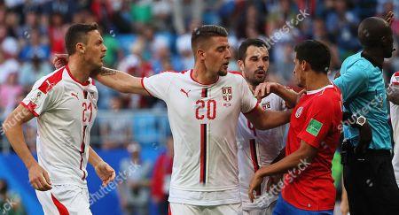 Daniel Colindres, Nemanja Matic and Sergej Milinkovic-Savic
