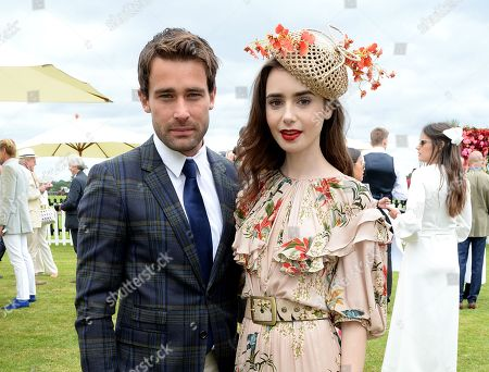Christian Cooke and Lily Collins