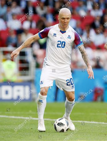 Emil Hallfredsson       / Sport / Football / FIFA World Championships Weltmeisterschaft Russland Russia 2018 /  2017/2018 / 16.06.2018 / Argentinien ARG vs. Iceland ISL   180616043 /