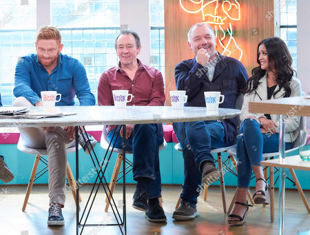 Jonny Bairstow, Paul Whitehouse, Bob Mortimer, and Amy-Leigh Hickman
