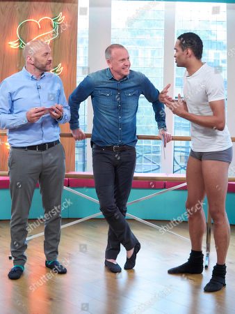 Stock Photo of Simon Rimmer and Tim Lovejoy with Brandon Lawrence