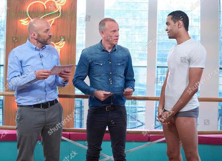 Simon Rimmer and Tim Lovejoy with Brandon Lawrence