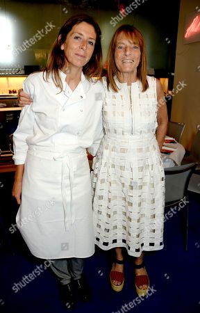 Ruth Rogers (R) with guest