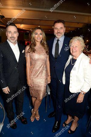 David Furnish, Elizabeth Hurley, David Walliams and Kathleen Williams