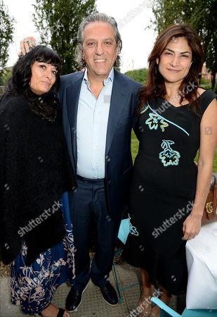 Stock Image of Plaxy Locatelli, Giorgio Locatelli and Diala Khlat