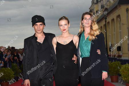 Etienne Baret, Camille Razat and Jeanne Sigwalt