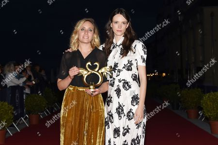 Stock Image of Winner of the Youth Award Marie Monge (L) and Stacy Martin