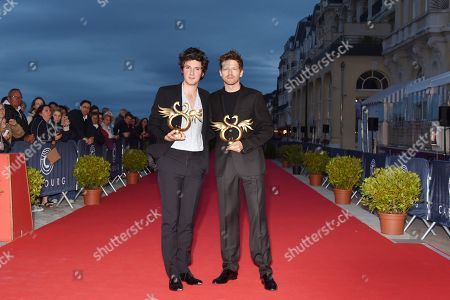 Winners of the best Actor Award Vincent Lacoste (L) and Pierre Deladonchamps
