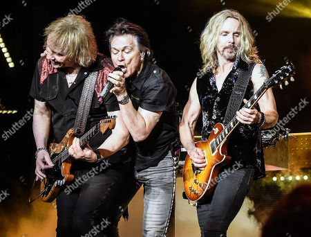 """James """"JY"""" Young, Lawrence Gowan and Tommy Shaw of Styx"""