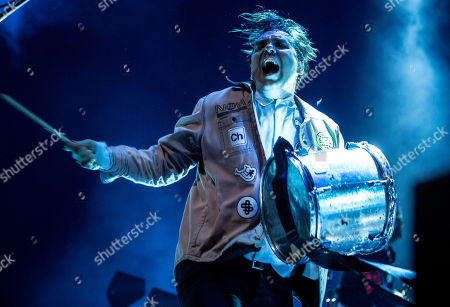 William Butler of the Canadian indie rock band Arcade Fire performs during their concert in Papp Laszlo Sports Arena in Budapest, Hungary, 17 June 2018.