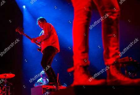 Stock Photo of William Butler of the Canadian indie rock band Arcade Fire performs during their concert in Papp Laszlo Sports Arena in Budapest, Hungary, 17 June 2018.