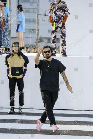 Stock Photo of Francesco Ragazzi on the catwalk