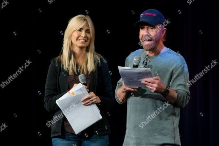Chuck Norris and wife Gena O'Kelly
