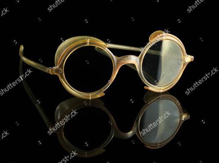 Stock Photo of Judge Doom's (Christopher Lloyd) glasses from Robert Zemeckis' Oscar winning detective comedy Who Framed Roger Rabbit. The villainous Doom wore his signature goggle-like glasses throughout the film as he attempted to frame Roger Rabbit for Marvin Acme's (Stubby Kaye) death and ultimately destroy Toontown by transforming it into a freeway.