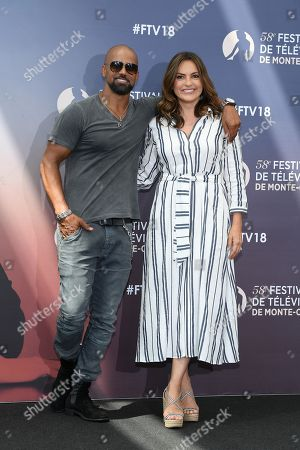 Shemar Moore from the serie 'S.W.A.T' and Mariska Hargitay from the serie 'Law & Order : SVU'