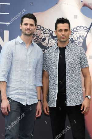 Stock Photo of James Lafferty and Stephen Colletti from the serie 'Everyone is Doing Great'