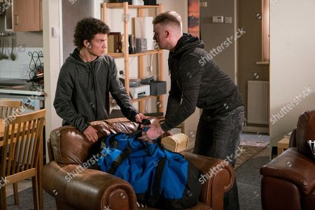 Ep 9494 Friday 29th June 2018 - 1st Ep Tyler, as played by Will Barnett, quizzes Simon Barlow, as played by Alex Bain, about Flora and on finding out she has inherited £250k hatches a plan to break into the corner shop flat whilst everyone is at Flora's 50s themed party at the Bistro. But Flora returns to the flat and disturbs them, Tyler throws a jewellery box at Flora knocking her unconscious. What will Simon do?