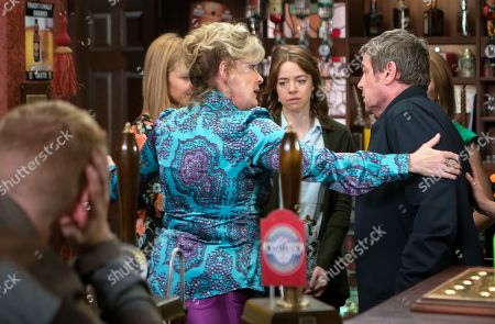 Ep 9484 & Ep 9485 Monday 18th June 2018 Carla summons Johnny Connor, as played by Richard Hawley, and Kate Connor, as played by Faye Brookes, and breaks the news that Susie is Aidan's daughter. Johnny storms into the pub demanding answers from Eva Price, as played by Catherine Tyldesley.