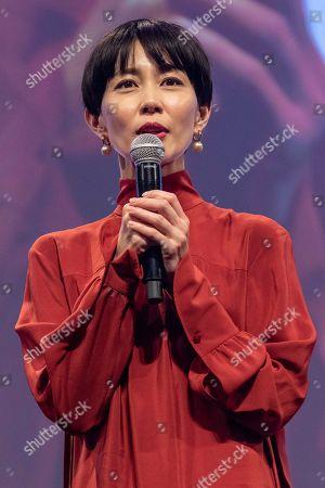 Japanese actress Yoshino Kimura speaks