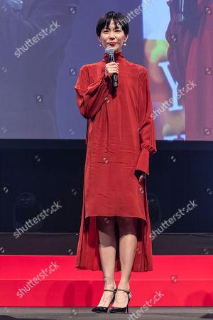 Stock Image of Japanese actress Yoshino Kimura speaks