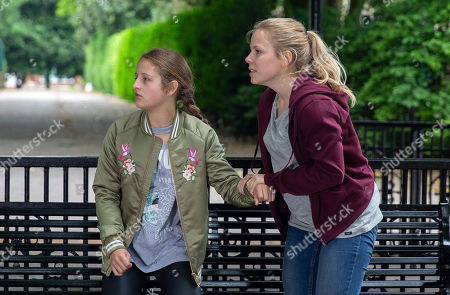 Emmerdale - Ep 8192 Tuesday 3rd July 2018  Beth, as played by Annabelle Kaye, panics when Amelia Spenser, as played by Daisy Campbell, sneaks out and charges after her and she tells her about Daz Spenser, as played by Mark Jordon, killing her father. When Daz spots them both, Amelia is torn when Beth tells her to run. What will Amelia do?