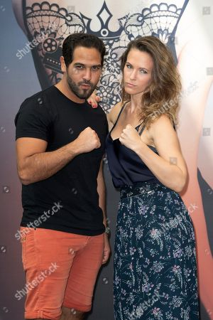 Lorie and Samy Gharbi attend a photocall during the 58th Monte Carlo TV Festival