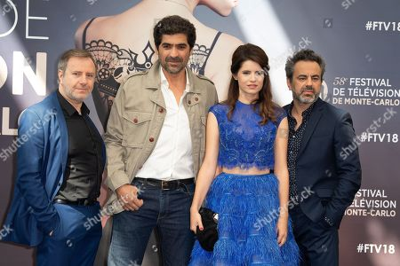 Francois Bureloup, Abdelhafid Metalsi, Aurore Erguy and Vincent Primault from the series 'Cherif' attend a photocall during the 58th Monte Carlo TV Festival