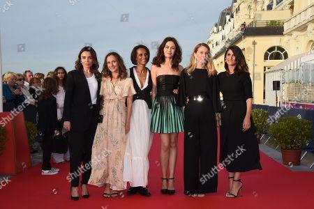 Jury members Geraldine Nakache, Elodie Bouchez, Karine Silla-Perez, Olga Kurylenko and Camille Chamoux