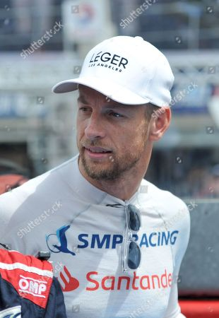 British driver Jenson Button of team SMP Racing on BR Engineering BR1 AER attend during the 86th edition of the 24 Hour race