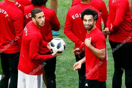 Mohamed Salah and Ramadan Sobhi