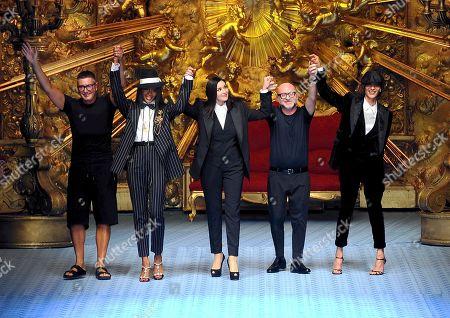 Stock Image of Domenico Dolce, Stefano Gabbana, Naomi Campbell and Monica Bellucci, Marpessa Hennink