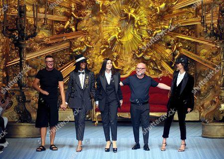 Domenico Dolce, Stefano Gabbana, Naomi Campbell and Monica Bellucci, Marpessa Hennink