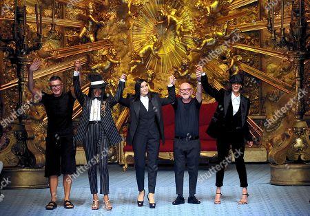 Stock Picture of Domenico Dolce, Stefano Gabbana, Naomi Campbell and Monica Bellucci, Marpessa Hennink