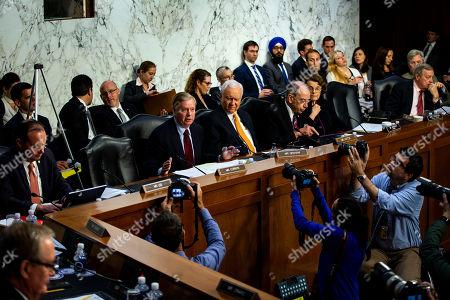 Editorial photo of Senate Judiciary Committee hearing on Inspector General's report, Washington, USA - 18 Jun 2018